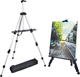 T-SIGN 66 Inch Artist Easel Stand, Upgrade Art Paint Easle Aluminum Metal Tripod Display..
