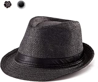 Fedora Hat Mens Fedora Hats for Men Trilby Hat Straw Sun Hat Panama Hat Reducer