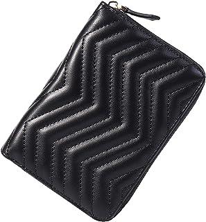 محفظة RFID Blocking للسيدات للسفر والأموال الصغيرة حامل بطاقات الائتمان محفظة كبيرة الحجم بسحاب متعددة (أسود-2)