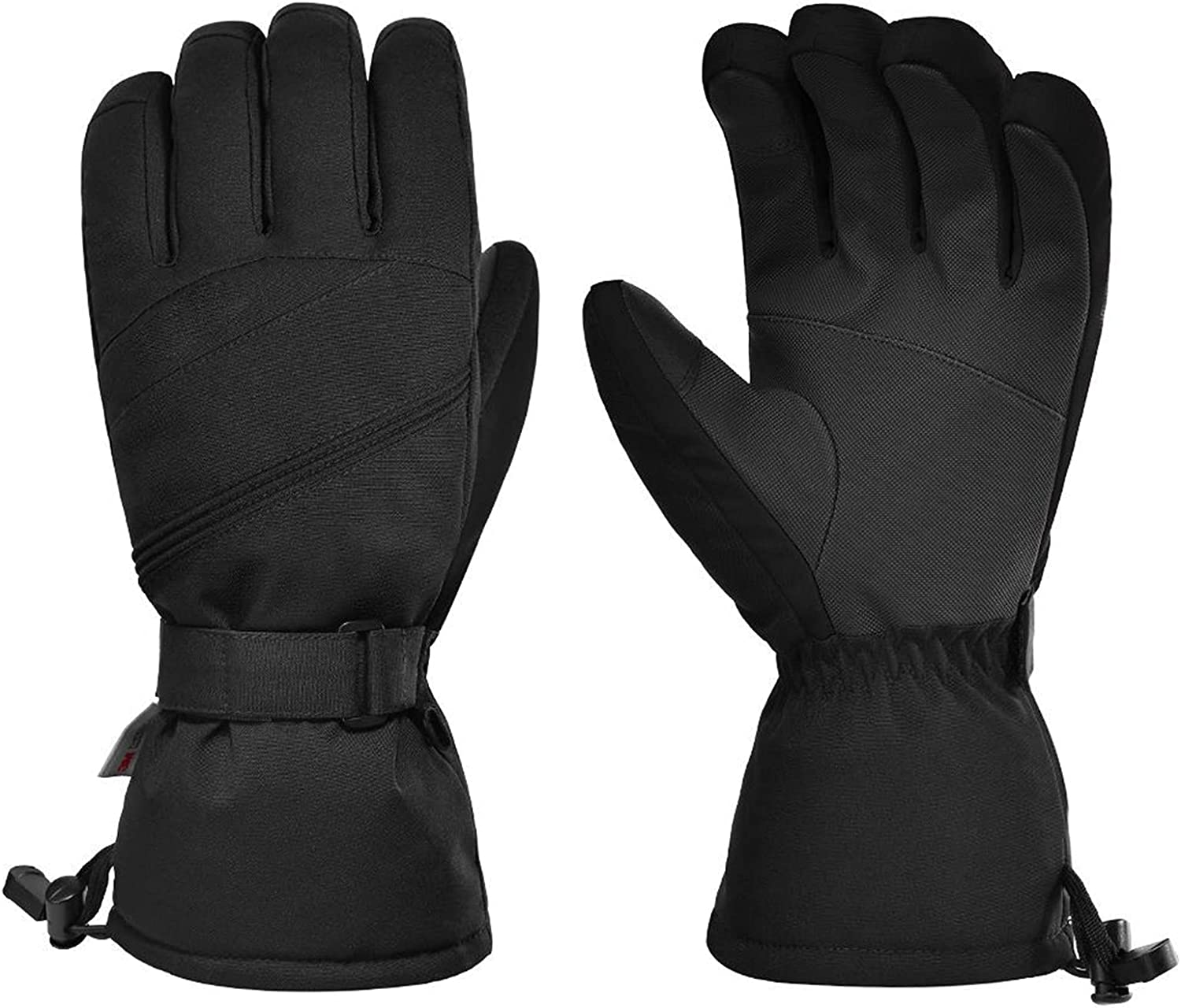 OhhGo Unisex Men Women Winter Ski Gloves Outdoor Water- and Wind- proof Touch Screen Soft Gloves for Skiing Camping Riding