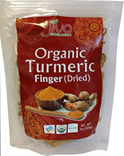 Jiva Organic Turmeric Root Whole 7 Ounce Bag - Distinctly Superior to Other Fresh Turmeric Roots