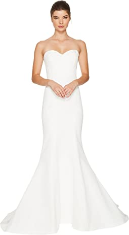 Nicole Miller Dakota Silk Faille Strapless Gown