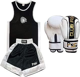 infantil Boxeo Uniforme 2 Piezas Set Azul Blanco 3-4 A/ÑOS INFANTIL+Guantes Boxeo 4-oz 1007 Top /& Corto
