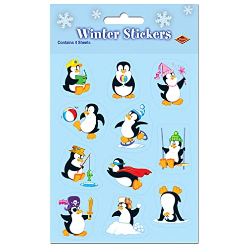 8 Sheets Stickers PENGUINS OF MADAGASCAR 3 Birthday Party Supplies Favors