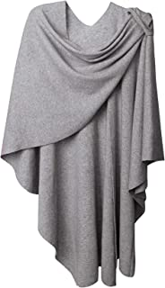 Womens Large Cross Front Poncho Sweater Plus Sized Wrap Topper for Cold Weather| Air Conditioned Places