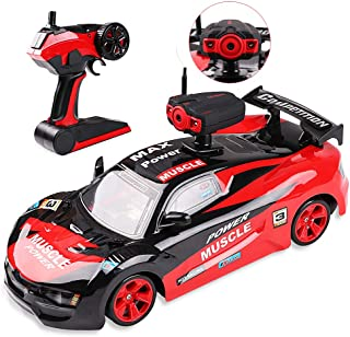Drift RC Cars Electric Off Road Vehicle with 0.3MP FPV Camera APP Control, 2.4GHz Radio Remote Control Car 4WD High Speed Racing Rc Truck for Kids, 1/14 Scale Driting Cars