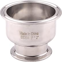 DERNORD Tri Clamp Bowl Reducer Sanitary Fitting Stainless Steel 304 (Tri Clamp Size: 3 inch x 2 inch)