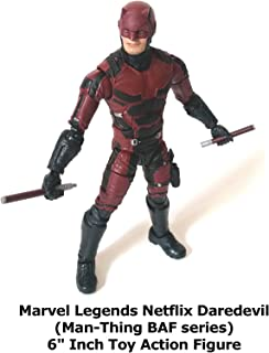 "Review: Marvel Legends Netflix Daredevil (Man-Thing BAF series) 6"" Inch Toy Action Figure"