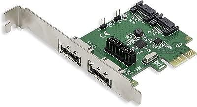 I/O Crest 2 Port eSATA III or 2 Port SATA III Non-RAID PCIe 2.0 x1 Hard Drive Controller Card Asmedia ASM1601 Chipset