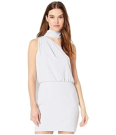 Halston Scarf Neck Dress (Slate Grey) Women