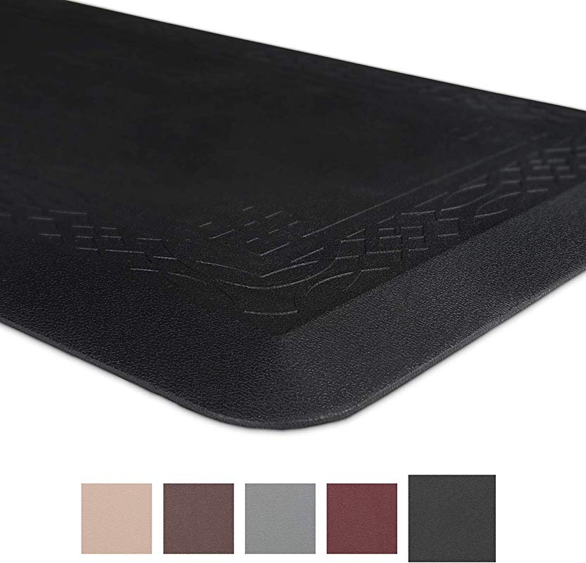 Anti Fatigue Comfort Mat Non Slip Kitchen Mat 24 X 72 X 3 4 Inches Ergonomically Engineered Perfect For Standing Desk And Garages Black By Grand Era