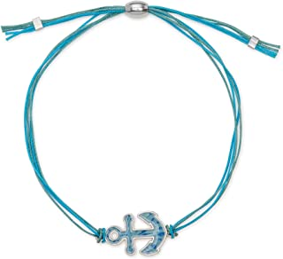 Anchor Adjustable Cord Bracelet for Women Made in USA