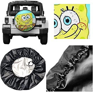 Spare Tire Cover Spongebob Squarepants Guitar Universal Waterproof Dust-Proof Wheel Covers