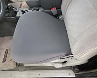USA Seamstress Premium Neoprene Bottom Seat Cover for Cars, Trucks, and SUV's, One Size Fits All - Seat Protector for Pets, Dirt, Sand, and More (Gray) (1 pc)