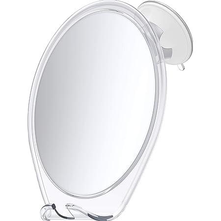 HoneyBull Shower Mirror Fogless for Shaving - with Suction, Razor Holder for Shower & Swivel, Mirrors, Shower Accessories, Bathroom Mirror, Bathroom Accessories, Holds Razors for Men (White)
