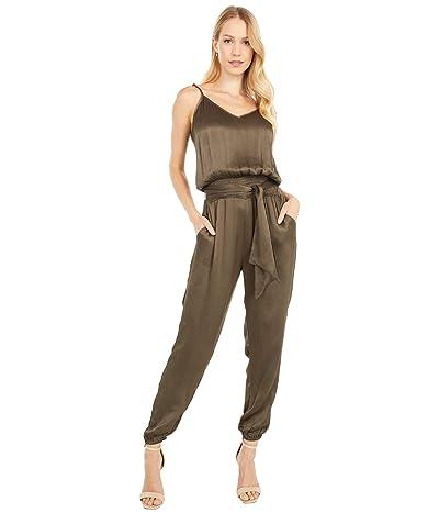 bobi Los Angeles Black Label Cami Smocked Jumpsuit (Army) Women