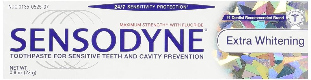 広範囲にバーガー疼痛Sensodyne Toothpaste, Extra Whitening Travel Size 0.8 Oz (Pack Of 3) by Sensodyne