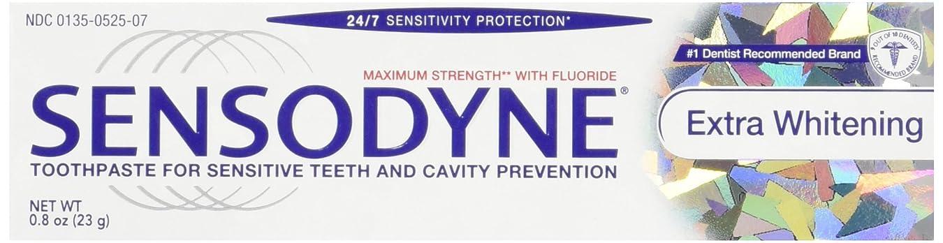 哀皮放射能Sensodyne Toothpaste, Extra Whitening Travel Size 0.8 Oz (Pack Of 3) by Sensodyne
