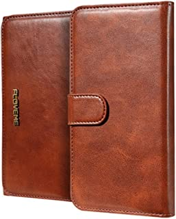 2018 Phone Covers for iPhone 6 Plus & 6s Plus PU Crazy Horse Texture Magnetic Detachable Horizontal Flip Leather Case with Card Slots & Wallet (Color : Coffee)