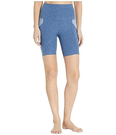 Beyond Yoga Spacedye In The Mix High Waisted Biker Shorts (Serene Blue/Hazy Blue) Women