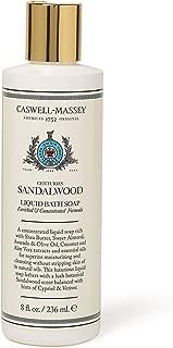 Caswell-Massey Centuries Sandalwood Liquid Bath Soap – Plant-Based Body Wash With A Crisp Sandalwood Scent, 8 oz