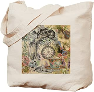 CafePress Cheshire Cat Alice In Wonderland Natural Canvas Tote Bag, Reusable Shopping Bag