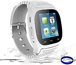 Jeystar Smart Watch Bluetooth Smartwatch Smart Wrist Phone Watch Touch Screen Fitness Tracker Pedometer Sleep Monitor Sport Watch for All Android Phones Samsung Huawei Motorola Men Women Kids (White)