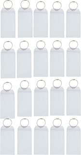 Cruise Luggage E-Tag Holders, 20-Count, Waterproof Zip Seal and Steel Loops