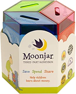 Moonjar Classic Save Spend Share 3-Part Tin Moneybox Bank
