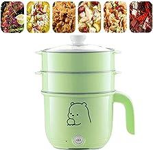 BBZZ Poêle électrique avec 2 cuiseurs vapeur, poêle à frire électrique, mini wok électrique, petite marmite électrique pou...