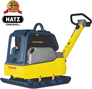 TOMAHAWK 9 HP Diesel Hydraulic Reversible Plate Compactor Tamper with Hatz Engine for Dirt Soil Asphalt Gravel Compaction