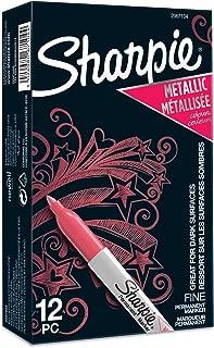 Sharpie rotuladores metálicos permanentes, punta fina, rubí metálico, juego de 12 (2067104)