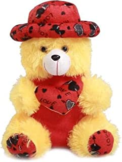 Emutz Very Soft 12 Inch Lovable/Huggable Teddy Bear with Neck Bow for Girlfriend Gift/Boy/Girl (Color Yellow)