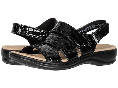 Clarks Leisa Melinda (Black Patent Croc Synthetic) Women