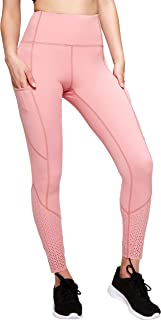 MAVOUR COUTURE High Waisted Leggings for Women with Pockets Tummy Control Laser Punching Yoga Pants for Workout Running