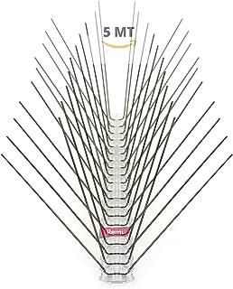 Remi Hogar Pack de 5 Metros de Pinchos Antipalomas de Acero | Púas para Palomas de Acero Inoxidable 5 M | Ahuyenta Palomas Efectivo | Cubrirás 10 Tiras de 50cm
