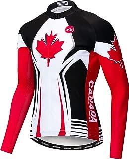 Men's Cycling Jersey Long Sleeve Pro Brand Team Reflective Bicycle Shirts Jacket USA