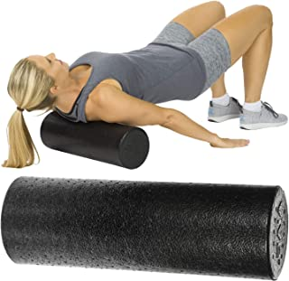 Vive Foam Roller - High Density Mini Massage Stick for Back, Firm Trigger Point, Yoga, Physical Therapy and Exercise - Round Massager for Leg, Calf, Deep Muscle Tissue Full Body Stretch