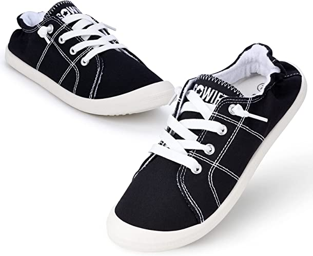 Sowift Fashion Slip On Canvas Sneakers for Women Low Top Classic Comfortable Shoes Lightweight Casual Flats Shoes for Walking
