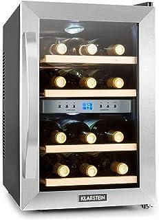 Anuncio patrocinado: Klarstein Reserva Black Edition - Vinoteca, Nevera de vinos, Refrigerador bebidas, 34 litros, 12 Bote...