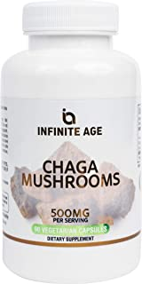 Sponsored Ad - Infinite Age: Chaga Mushroom Capsules - Potent Organic Energy and Immune Support for Mental Focus and Stami...