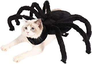 Halloween Spider Costume for Dogs Cats, Halloween Pet Spider Cosplay Costume with Adjustable Velcro Halloween Pets Accesso...