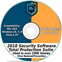 Security Software 2018 Internet Antivirus Web Total Protection Suite for Windows PC & Mac Computer Desktop Laptop #1 Best