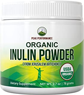 Sponsored Ad - Organic Inulin Powder - Natural Prebiotic Fiber for Gut Health. USDA Organic Raw Whole Food Plant Based Veg...