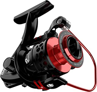 Spinning Reel 9+1BB with CNC Aluminum Spool, Light Weight Ultra Smooth Powerful Spinning Fishing Reels for Freshwater