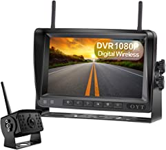 "$119 » OYT 1080P Digital Wireless Backup Camera 7"" High-Speed Observation DVR System for RVs,Travels,Trailers,Trucks,Full/Split S..."