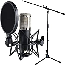 Monkey Banana Bonobo Studio Kondensatormikrofon Schwarz + keepdrum Mikrofonständer