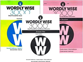 Wordly Wise 3000® 4th Edition Grade 6 SET -- Student Book, Test Booklet and Answer Key (Direct Academic Vocabulary Instruction)