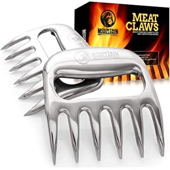 Bear Claws Meat Shredder for BBQ - Perfectly Shredded Meat, These Are The Meat Claws You Need - Best Pulled Pork Shredder Claw x 2 For Barbecue, Smoker, Grill (Stainless Steel)
