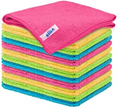 "MR.SIGA Microfiber Cleaning Cloth,Pack of 12,Size:12.6"" x 12.6"""